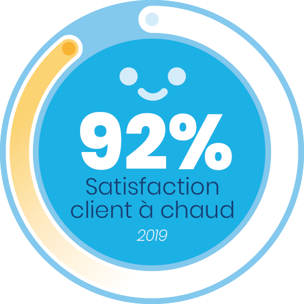 92 de satisfaction à chaud